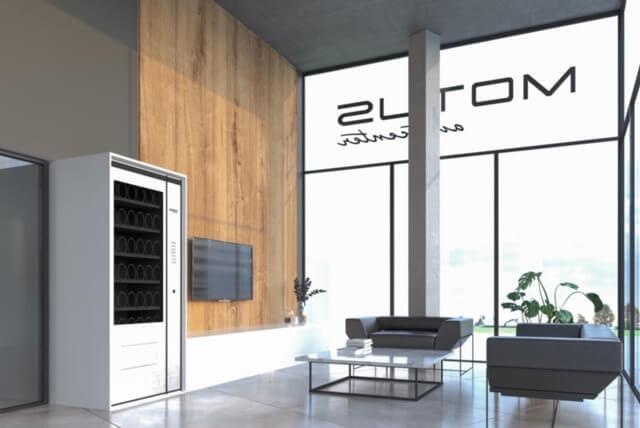 Motus Autocenter Wien - Sicht auf Glasfront und Kundensitzbereich