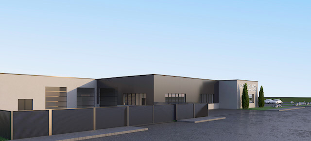 MOTUS Autocenter - Sicht auf Gebäuderückseite