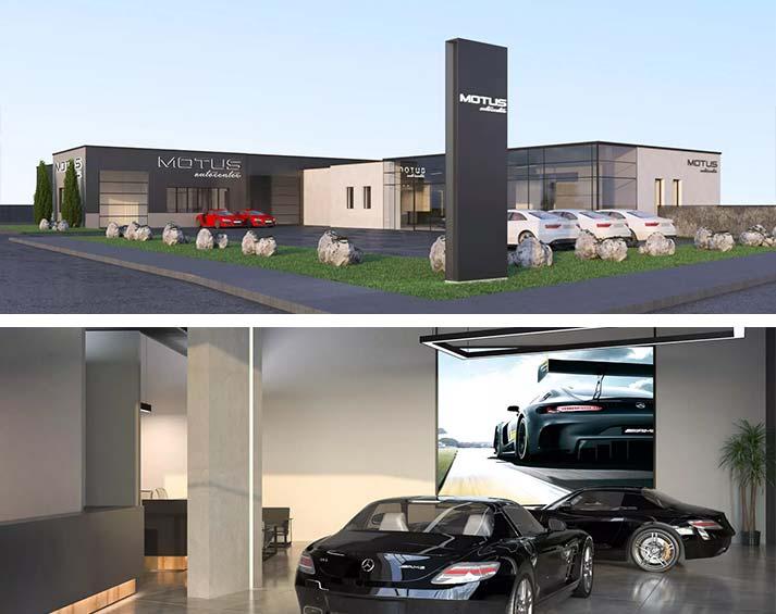 MOTUS Autocenter - Innen- und Außenansicht auf unsere freie Werkstatt