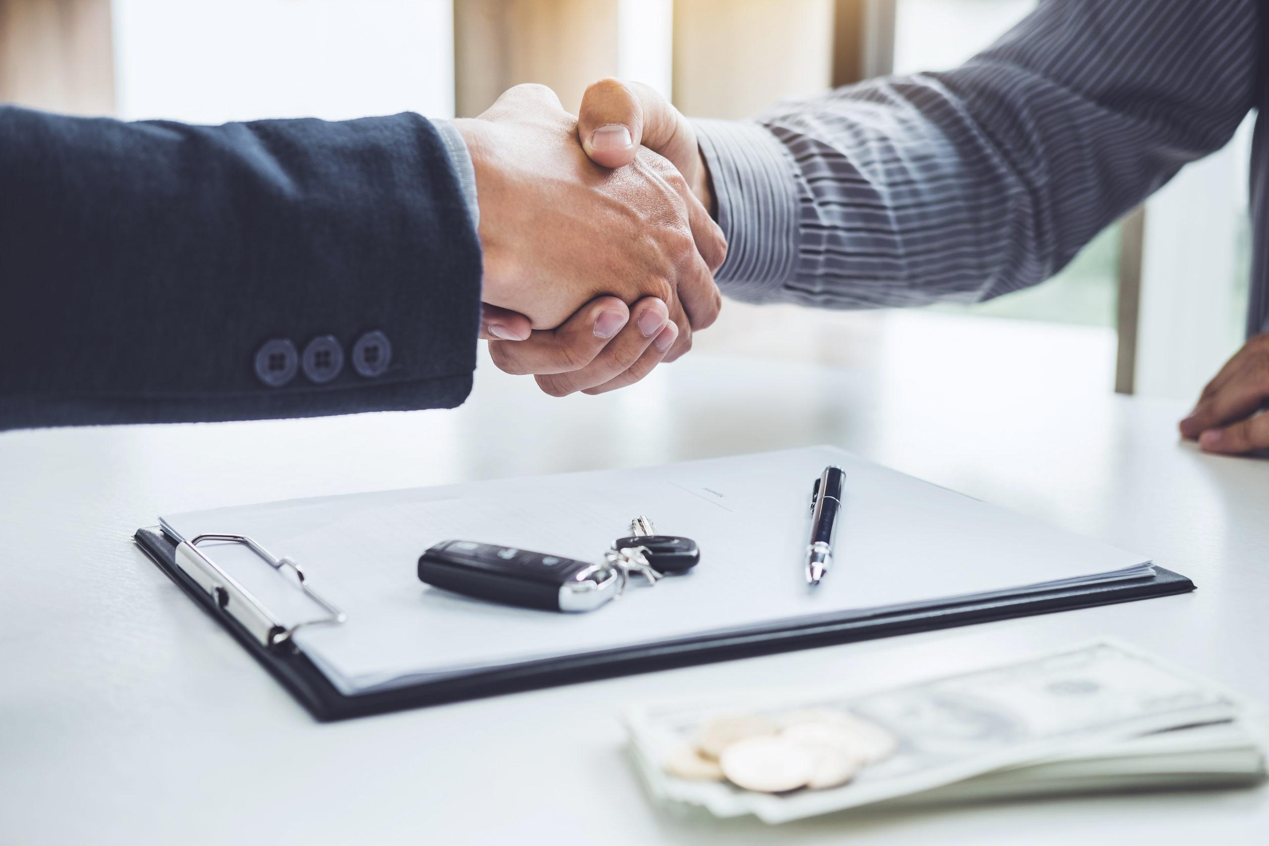 Abschließung eines Kaufvertrags