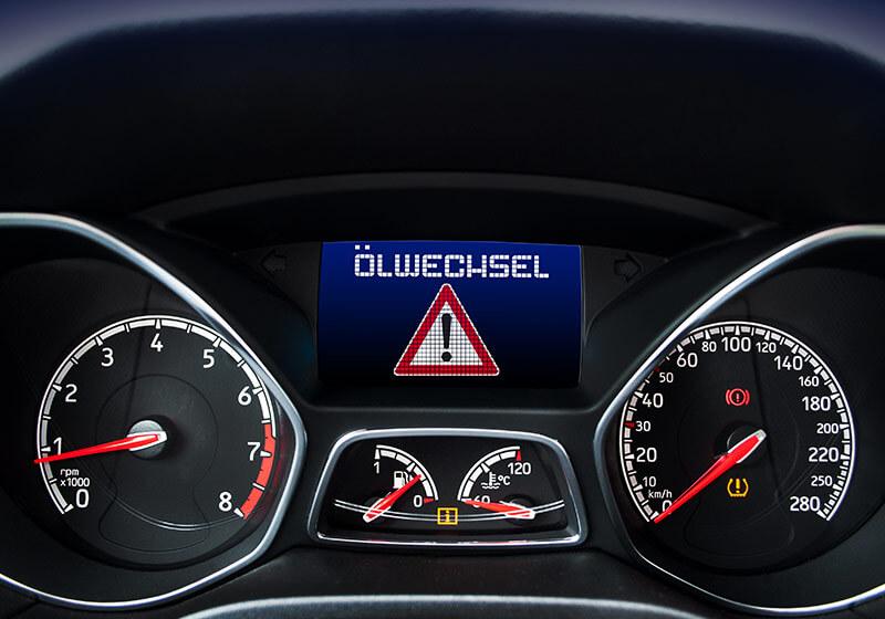 Autoanzeige / Ölwechsel
