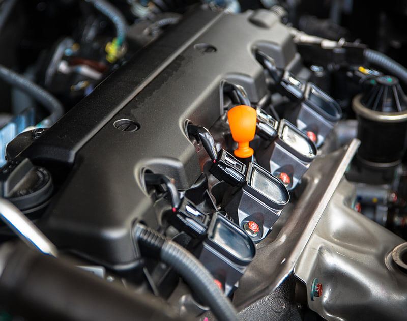 Sauberer Motor nach dem Ölwechsel / Ölservice